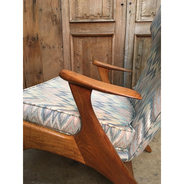 Blue Vintage Mid Century Kurt Ostervig High Back Lounge Chair For Sale - Image 8 of 13