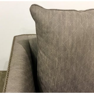 Thomasville Modern Chocolate Brown and White Club Chairs Pair Preview