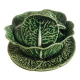Image of Bordallo Pinherio Condiment Bowl With Under Plate For Sale