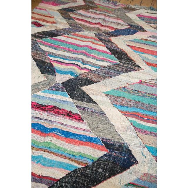 """Vintage Rag Rug Runner - 5'3"""" X 10'11"""" For Sale - Image 5 of 9"""