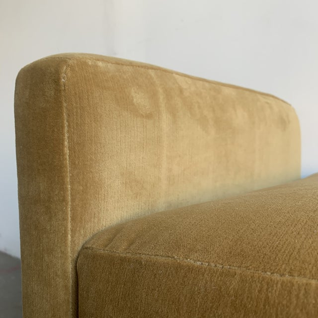 Post Modern Bench- Mustard For Sale - Image 10 of 13