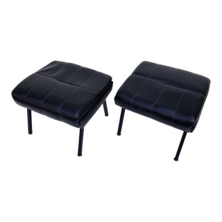 1950s French Ottoman - a Pair For Sale