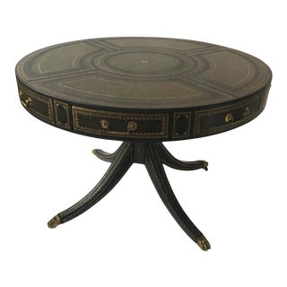 Maitland Smith Leather Rent Table For Sale