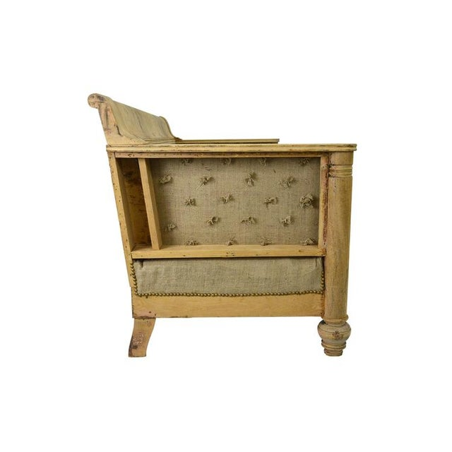 French Vintage European Deconstructed Sofa For Sale - Image 3 of 8