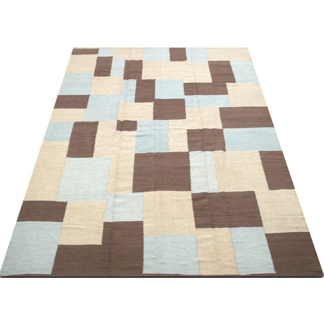 "Contemporary Egyptian Kilim 8'2"" X 10'9"" For Sale - Image 4 of 5"