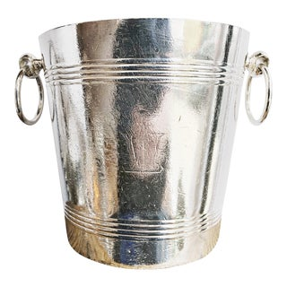 Antique Silver Plated Wagons-Lits Orient Express Champagne Bucket For Sale