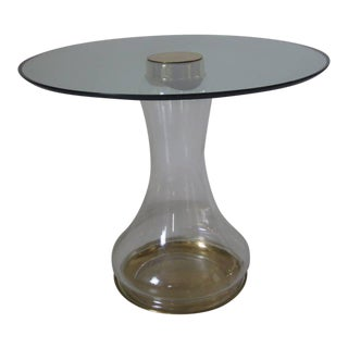 Sarreid Brass and Glass Side Table