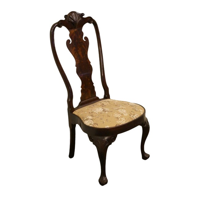 Stickley Queen Anne Splatback Mahogany Dining Side Chair For Sale
