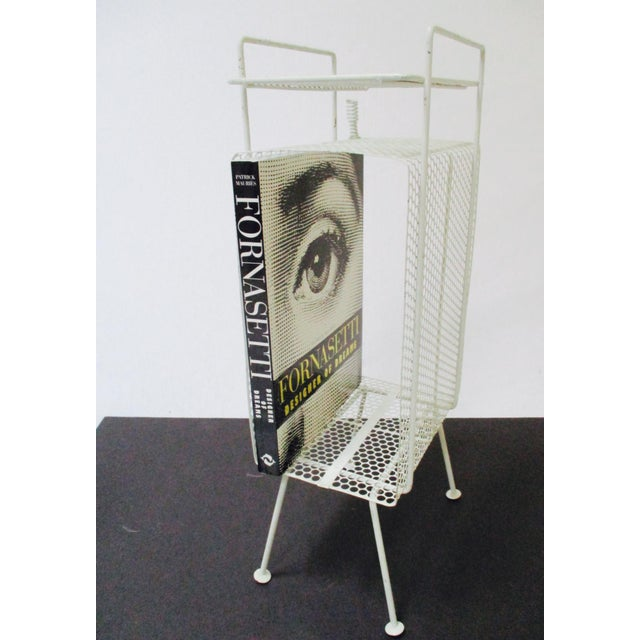 White Metal Telephone Stand / Magazine Holder - Image 8 of 9