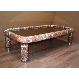 1970s Tommaso Barbi Ceramic Coffee Table With Mirror Top Preview