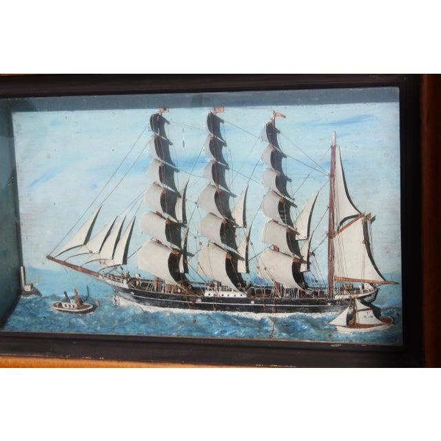 19th C. Antique American Sailing Ship Painting For Sale In San Diego - Image 6 of 10