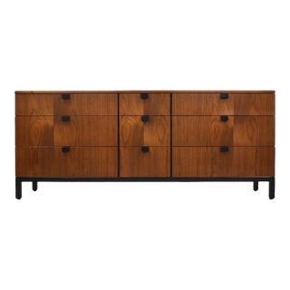 Milo Baughman Directional Walnut Dresser For Sale