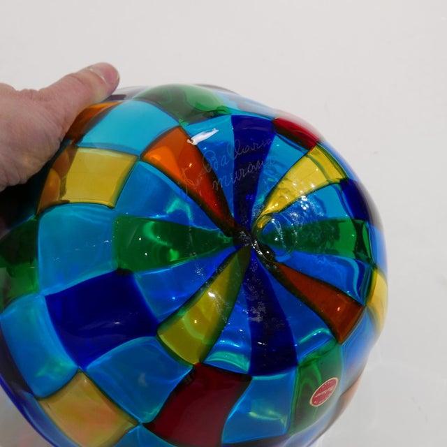 Ballarin Italian Murano Glass Pezzatto Bowl in the Style of Bianconi Venini For Sale In New York - Image 6 of 7