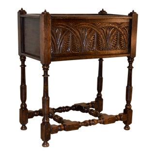 19th Century English Oak Planter For Sale