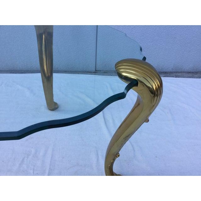 1970's Modern Tripod Brass Side Tables - 2 - Image 7 of 11