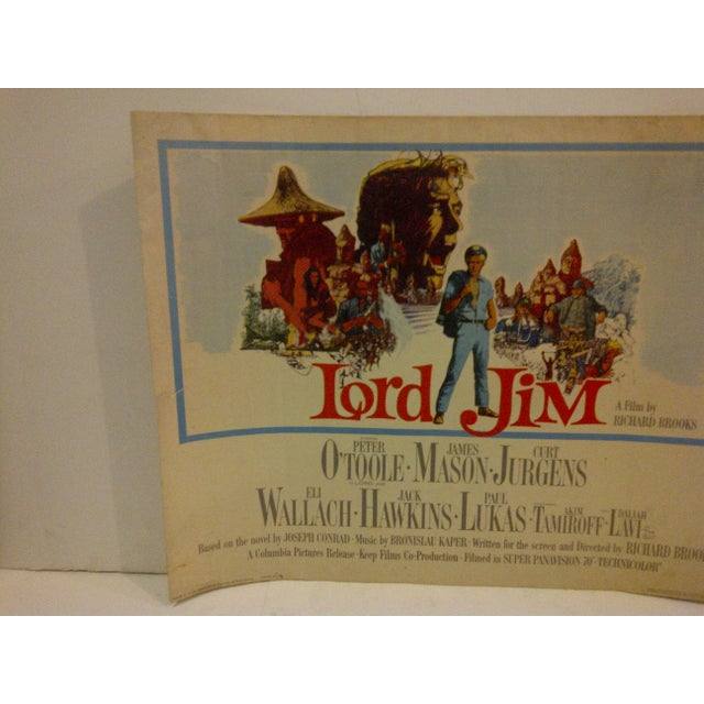 """Mid-Century Modern Vintage """"Lord Jim"""" 1964 Movie Poster For Sale - Image 3 of 5"""