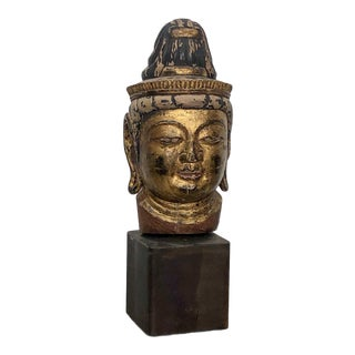 18th Century Head of a Bodhisattva Sculpture, Japan For Sale