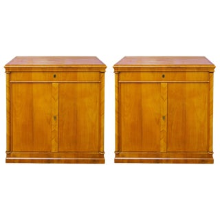 Pair of 19th Century Biedermeier Cabinets For Sale