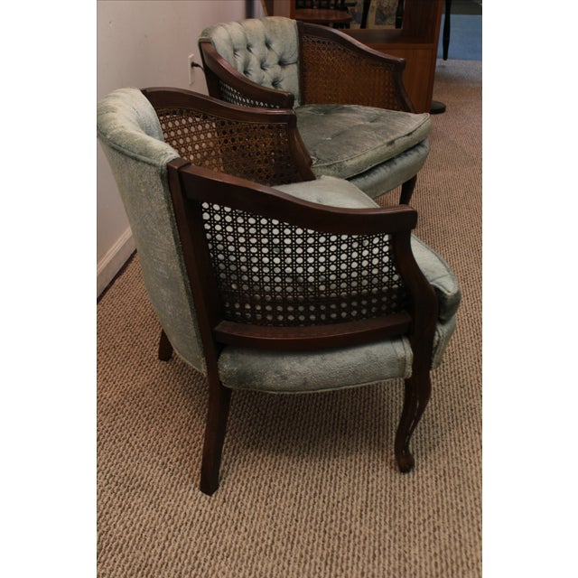 Cane & Tufted-Back Ladies Chairs - A Pair - Image 5 of 10