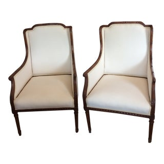 French Wing Chair - a Pair For Sale