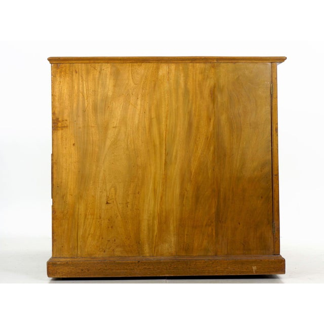 19th Century 19th Century English Antique Mahogany and Leather Pedestal Desk For Sale - Image 5 of 13