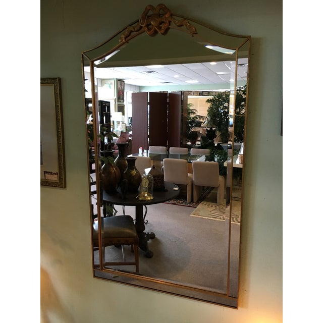 Gold Bow Framed Mirror - Image 2 of 3