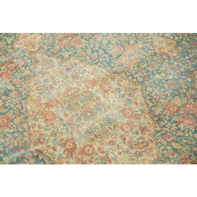 Blue Vintage Distressed Kerman Carpet - 10' X 16' For Sale - Image 8 of 13