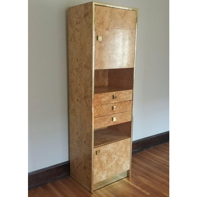 Founders Brass and Burl Storage Unit - Image 4 of 9
