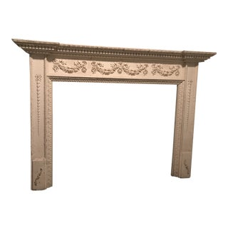 1920 English Adam Style Mantel For Sale