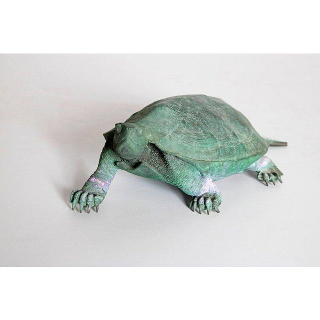 Asian Late 19th Century Japanese Bronze Tortoise, Meiji Period For Sale - Image 3 of 13