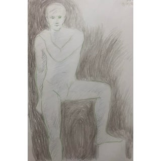 Posing Male Nude by James Bone 1996 For Sale