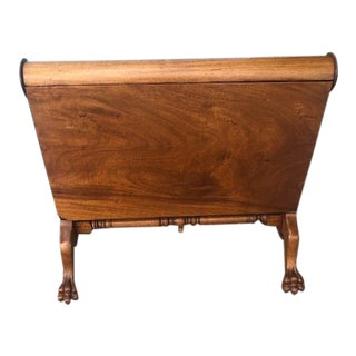 Antique English Mahogany Drop Leaf Table Light Color Lion Paw Feet For Sale