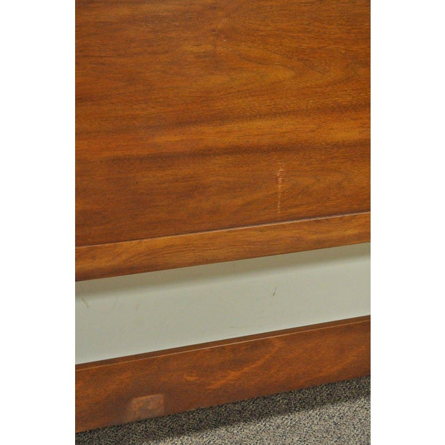 Vintage Drexel Federal Style Banded Mahogany King Size Headboard Poster Bed D For Sale - Image 9 of 11
