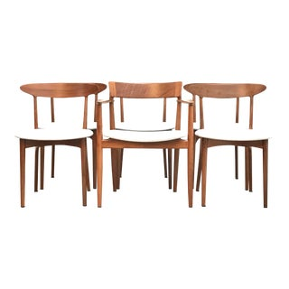 Set of 6 Mid Century Modern Danish Dining Chairs by Kurt Ostervig For Sale