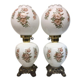 Gone With the Wind / Hurricane / Boudoir Table Lamps - a Pair For Sale