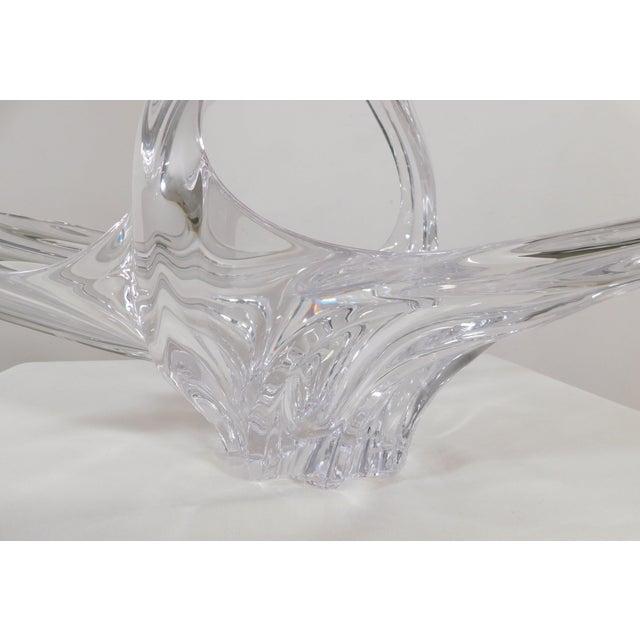 Art Vannes Le Chatel Crystal Fruit Basket Center Piece Mid Century Modern For Sale - Image 9 of 12