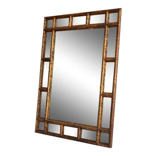 Chinoiserie Rectangle Mirror With Beveled Panel Wall Mirror For Sale