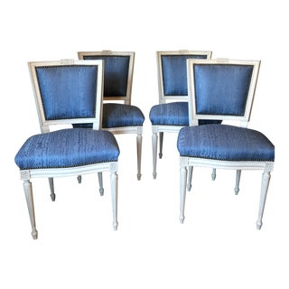 Vintage French Side Chairs- Set of 4