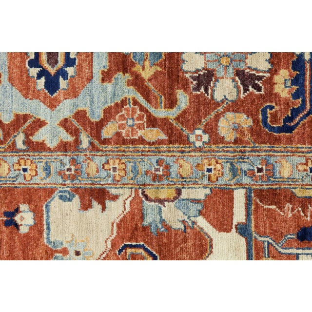 Contemporary Traditional Red Hand-Knotted Rug 9' X 12' - Image 3 of 3
