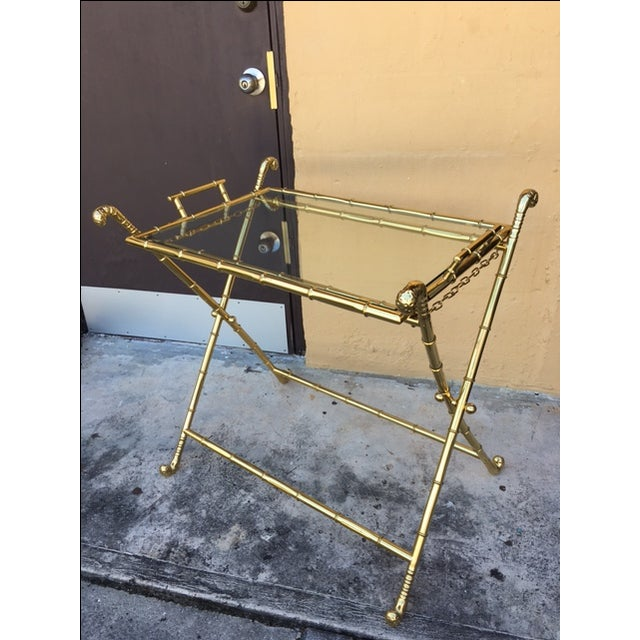 Contemporary Brass Bar Table - Image 3 of 8