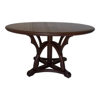 Spanish Walnut Dining Table W/H Maple Accents For Sale