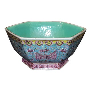 Antique Chinese Ceramic Bowl Signed For Sale