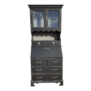 Mid 20th Century Industrial Farmhouse China Cabinet/Secretary For Sale