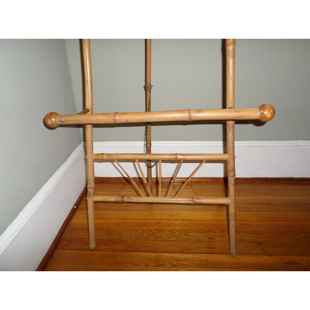 Antique Victorian Bamboo Floor Easel Display Stand For Sale - Image 6 of 7