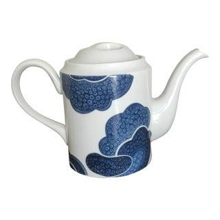 Large Blue & White Japanese Porcelain Teapot For Sale