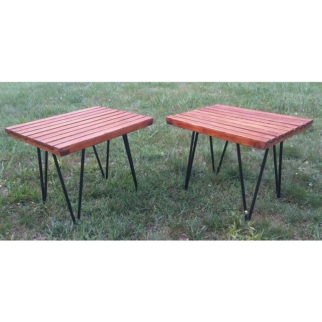Metal 1950s Mid-Century Modern Pipsan Saarinen Swanson Side Tables - a Pair For Sale - Image 7 of 7