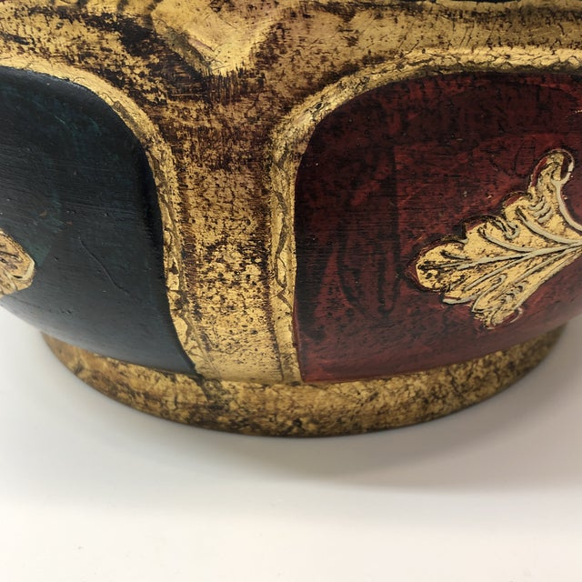 Vintage Florentine Terracotta Hand Painted Planter For Sale - Image 4 of 7