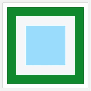 "Medium ""Squared V Green"" Print by Wendy Concannon, 31"" X 31"" For Sale"