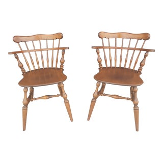 Ethan Allen Comb Back Windsor Chairs- a Pair For Sale