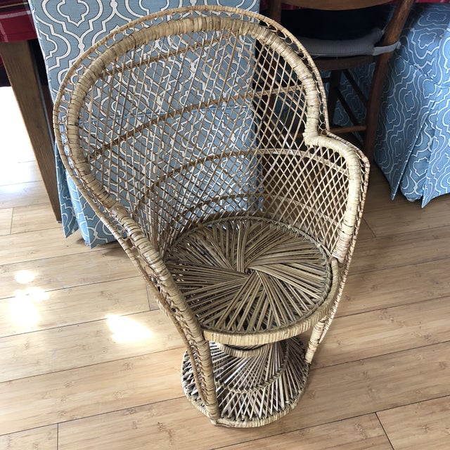 1970s Vintage Children's Peacock Chair For Sale - Image 4 of 10